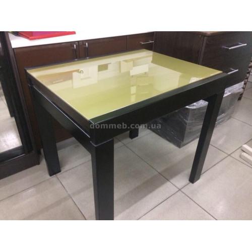 Стол раскладной Венге Стекло золото