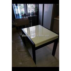 Стол раскладной венге стекло ваниль1015
