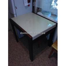 Стол раскладной орех стекло ваниль 1015