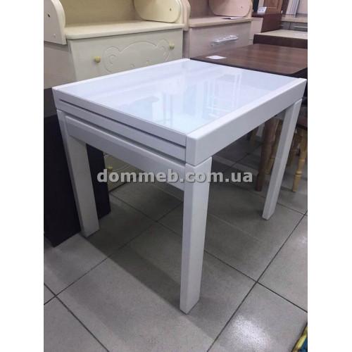 Стол раскладной белый Стекло 9003 (Белое)
