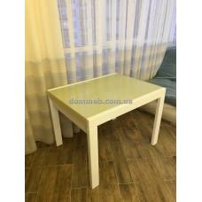 Стол раскладной белый Стекло 1015 (Ваниль)