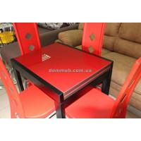 Стол раскладной венге стекло 3003 (красный)