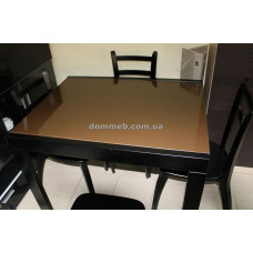 Стол раскладной венге стекло 8014  (корричневый)