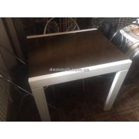 Стол раскладной белый Стекло 8014 (коричневое)